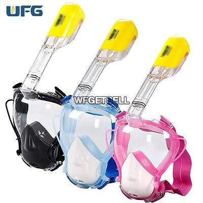 Full Face Snorkeling Snorkel Mask Diving Goggles With Breather Pipe For Kids New
