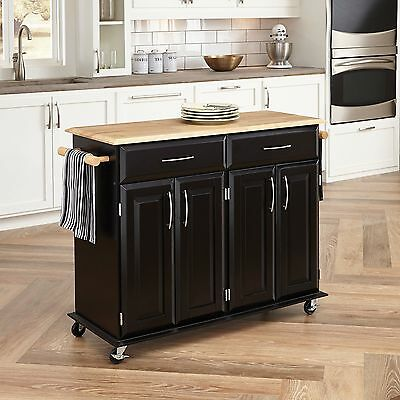 Home Styles 4528-95 Dolly Madison Kitchen Cart Black Finish