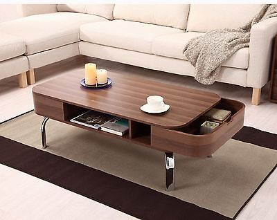 Furniture of America Enitial Lab Luxer Coffee Table with Drawers Walnut