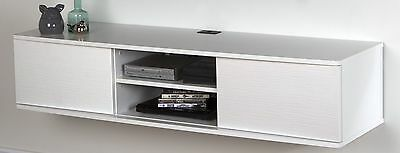 South Shore Furniture Agora Wall Mounted Media Console 56-Inch Pure White