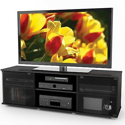 Sonax FB-2600 Fiji 60-Inch TV/Component Bench in Ravenwood Black