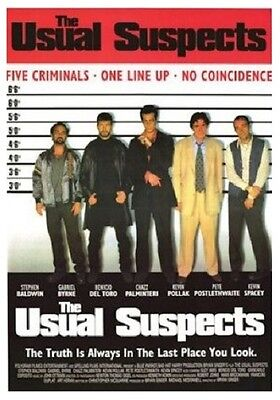 THE USUAL SUSPECTS MOVIE ONE SHEET POSTER (87x57cm)  PICTURE PRINT NEW ART