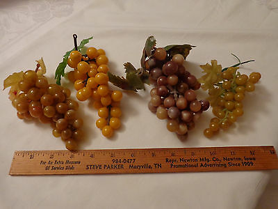 Artificial Grapes Bowl Wreath Purple Green Brown Vintage Rubber Plastic Fall 4
