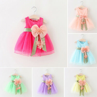 Party Flower Girl Dress Communion Pageant Wedding Bridesmaid Prom Tutu Dresses