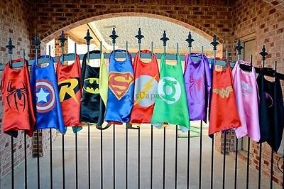"""Superhero Cape (1 cape+1 mask) for kids birthday party favors and ideas"""""""