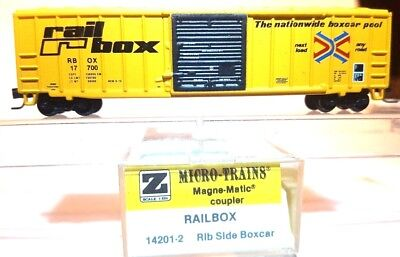 Z MTL 14201-2 50ft Rib Side Box Car Single Door RBOX