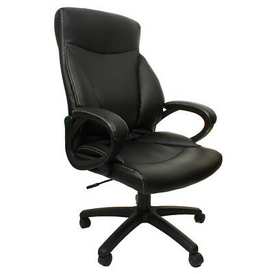 Merax High Back PU Leather Home Office Computer Chair Executive Computer Desk