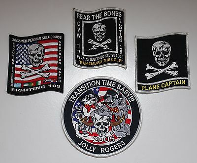 Vf-103 Patch Lot F-14 Tomcat - Enduring Freedom / Transition Time / Cole / Capt.