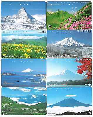 Japan Mountains 8 phonecards used.