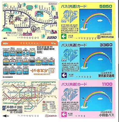 Japan 6 used travel cards.