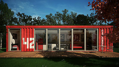 20ft/40ft custom shipping container house home office cabin 557AUD/square meter