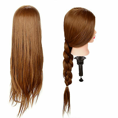 "26"" Salon Hairdressing Training Head 30% Real Human Hair Mannequin Doll + Clamp"