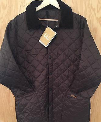 New Men's Barbour Liddesdale Quilted Jacket In Rustic (dark Brown) Size: X Small