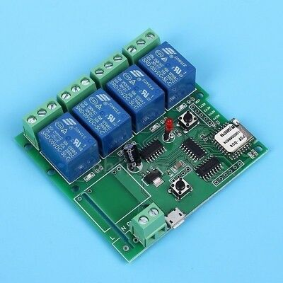 4-Kanal WLAN Relais Modul Wifi Switch Relay Module Jog Self-Lock Interlock 5V