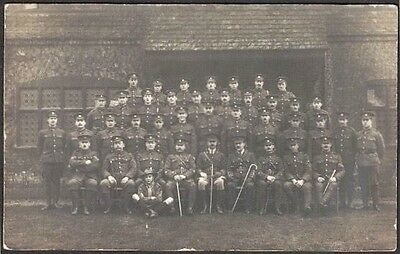 Group Of Unidentified Ww1 Soldiers & Boy Scout, Photographic Portrait, Rp