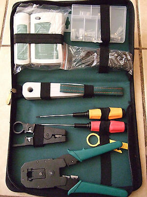 WLXY Network Cable Tester Diagnostic Tool Kit In Canvas Carry Bag