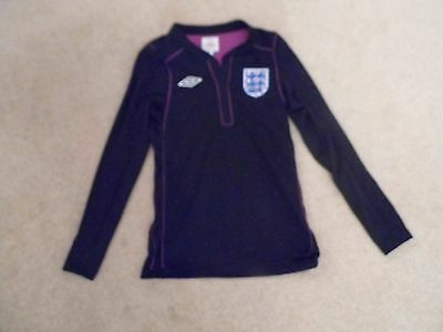 England Football Top by Umbro  size 134 cms. Black