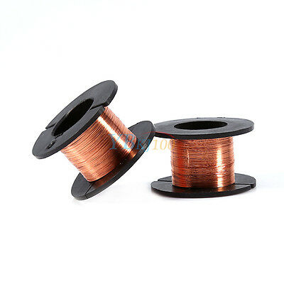 5pc Magnet Copper Solder Winding PPA Enamelled Repair Reel Wire 15m 0.1mm New