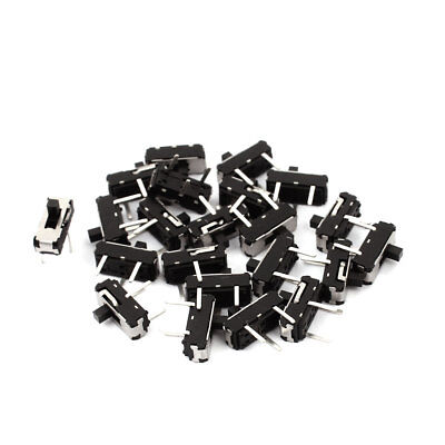 20 Pcs 2 Position Straight 3P SPDT Micro Slide Switch Latching Toggle Switch