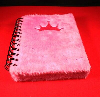 Disney Princess Spiral Diary Journal with Pink Fur Used