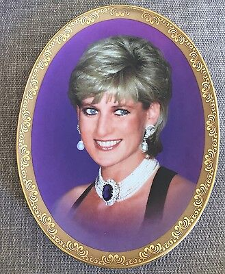 Memories Of Princess Diana Oval Display Plate. She Brightened Our Lives