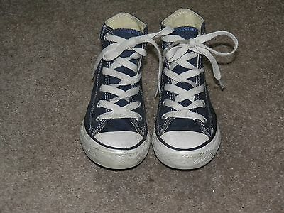 Boys Blue High Top Converse Boots Size 11