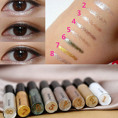 8 Couleurs Briller Crayon Eye Paillettes Liquide Lip Eye-liner Ombre Maquillage