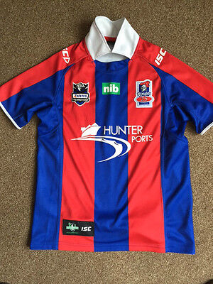 ISC Newcastle KNIGHTS 25 Years 1988 - 2012 RUGBY League Shirt ADULT SMALL