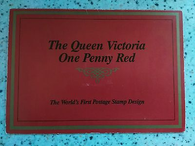 Penny Red Commemorative Stamp Book Booklet - Harry Allen - QV GB QE2 - Unusual!