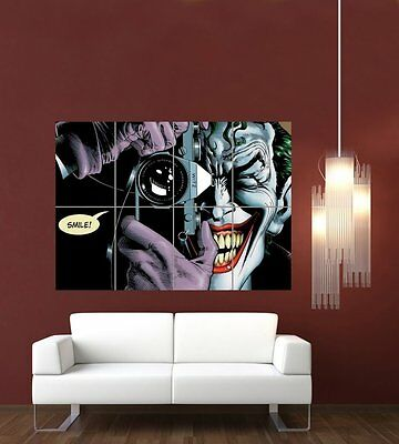Home Art Painting Drawing Poster  Wall Art Joker Batman the Killling Joke GIiant