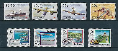 LF62018 Barbados  aviation aircraft airplanes fine lot MNH