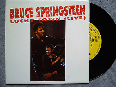 Bruce Springsteen – Lucky Town (Live) –  Very Rare Spanish Promo Vinyl Single