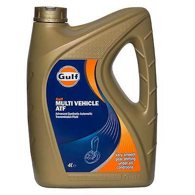Gulf Multi-Vehicle High Performance Automatic Transmission Fluid ATF 4 Litres 4L