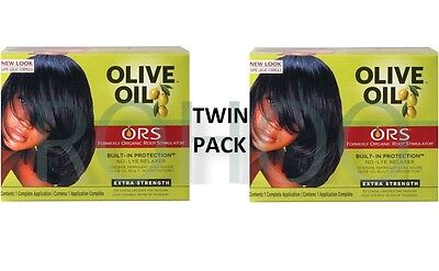 2 X Organic Roots Olive Oil Hair Relaxer Non Lye EXTRA RELAXER ( TWIN PACK )