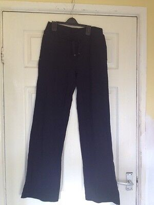 Girls Black Tracksuit Bottoms Size 13-14 Years