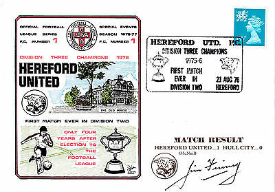 Dawn Cover-Hereford Utd Div 3 Champions-Sign Former Top Match Referee Jim Finney