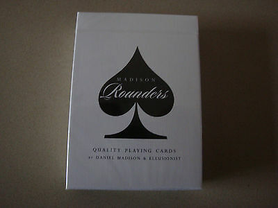 Rounders Black Bicycle Deck Playing Cards By Madison & Ellusionist Magic Tricks