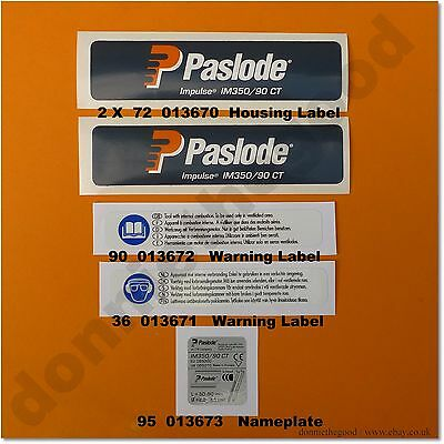 Labels And Stickers. Full Set. Paslode Im350 *new Style*