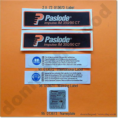 Labels And Stickers. Full Set. Paslode Im350, *classic Style*