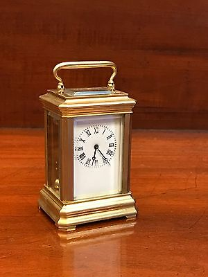 Antique Style Miniature  Brass Carriage Clock. Open To Offers.