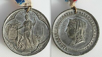 Commemorative Queen Victoria  Medal 1897 - Longest Reign - With Ribbon