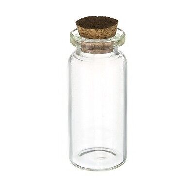 Storage Glass Bottle with Cork for Seed Beads (10ml) 50mm (A22/2)