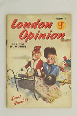 London Opinion Magazine Dec 1943 Vintage Humour Stories Hobbies Xmas Number