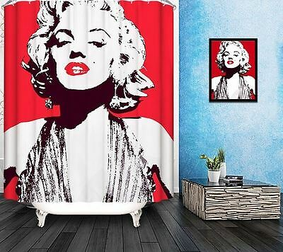 Famous Star Marylin Monroe Digital printing Shower Curtain With Metal Hooks
