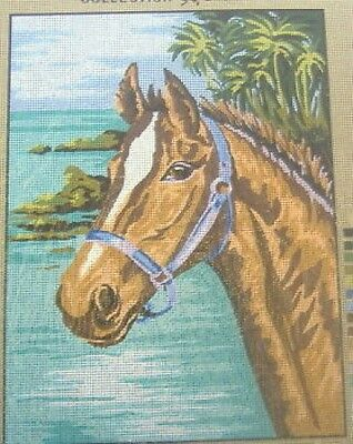 """Beautiful Horse Tapestry / Needlepoint Canvas - 15.75"""" x 11.75"""""""