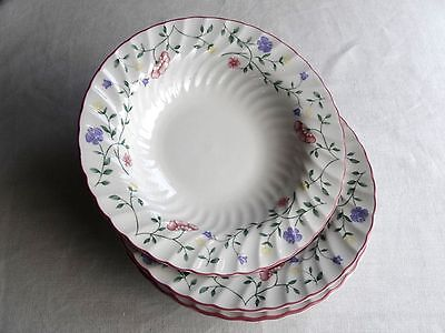 THREE MInt 21cm Rimmed Soup/Pudding Plates Johnson Bros SUMMER CHINTZ
