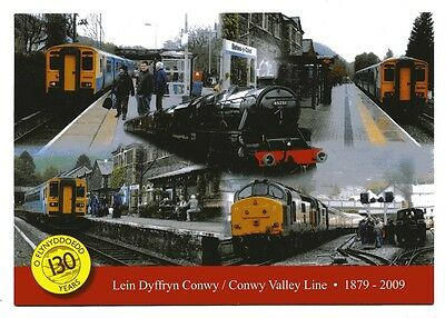 Conwy Valley Line Postcard, 130 Years 1879 - 2009 Celebration
