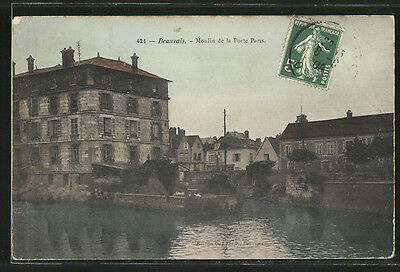 formidable CPA Beauvais, Moulin de la Porte Paris 1908