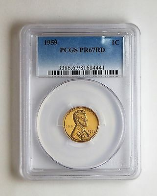 1959 1c Proof Lincoln Memorial Cent PCGS PR 67 RD