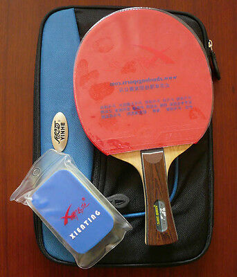 Custom Pro RITC 2008 Faster + DHS Carbon Table Tennis Paddle w/Case, New, UK